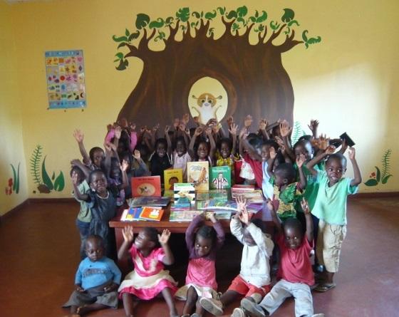 Baobab Kids Malawi is blij met boeken